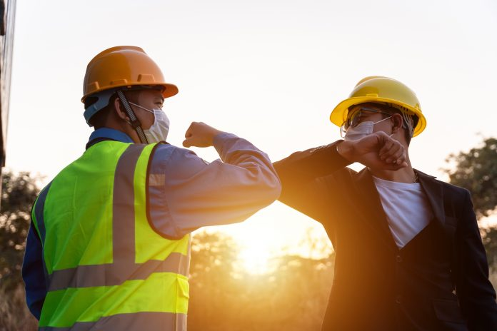 construction workers covid safety,